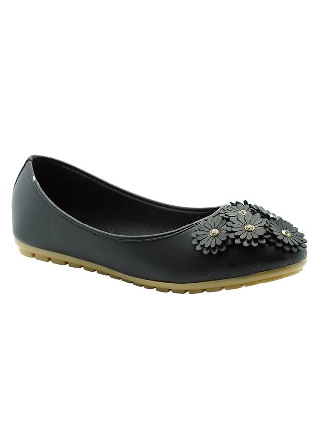 Giày Búp Bê Đính Hoa Princess PRIN39D - Đen
