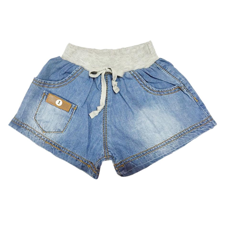 Quần Short Jeans Bé Trai Lưng Thun Xám Nanio Q0038 – Xanh Jeans