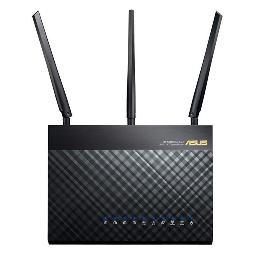 Router Wifi Mesh Asus RT-AC68U Băng Tần Kép AC1900 - Hàng Chính Hãng
