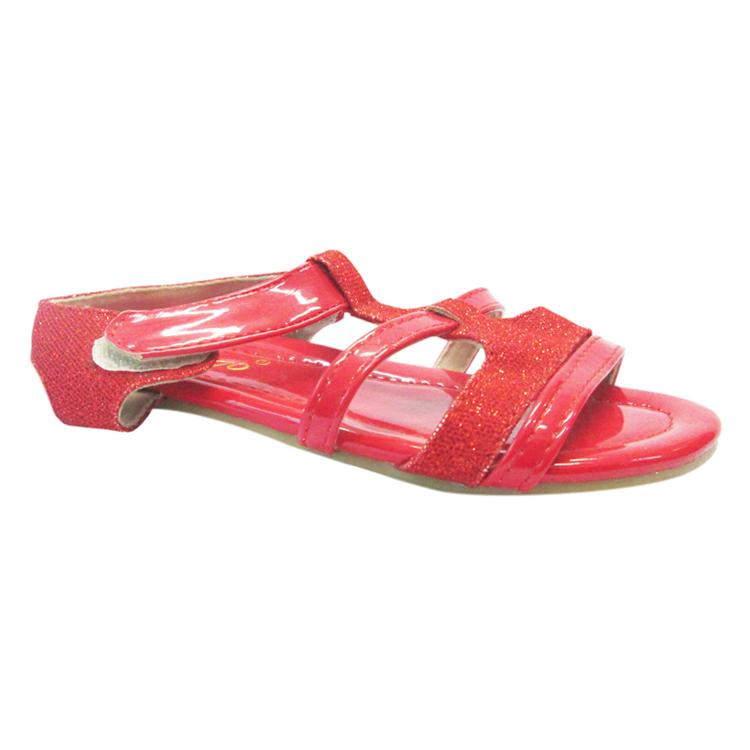 Sandals Bé Gái UpGo S01-259-RED Phối Kim Tuyến - Đỏ