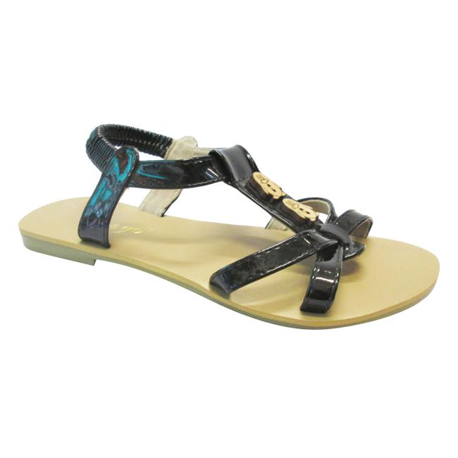 Sandals Bé Gái UpGo Phối Nút Gỗ S01-263-BLA - Đen