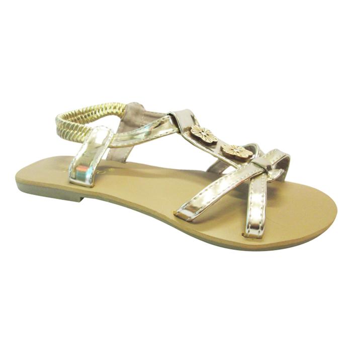 Sandals Bé Gái UpGo Phối Nút Gỗ S01-263-GOL - Vàng