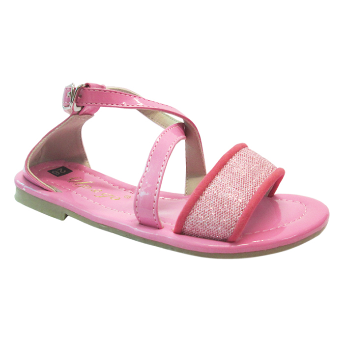 Sandals Bé Gái UpGo S01-287-PIK1 Nhũ Kim Tuyến - Hồng Đậm
