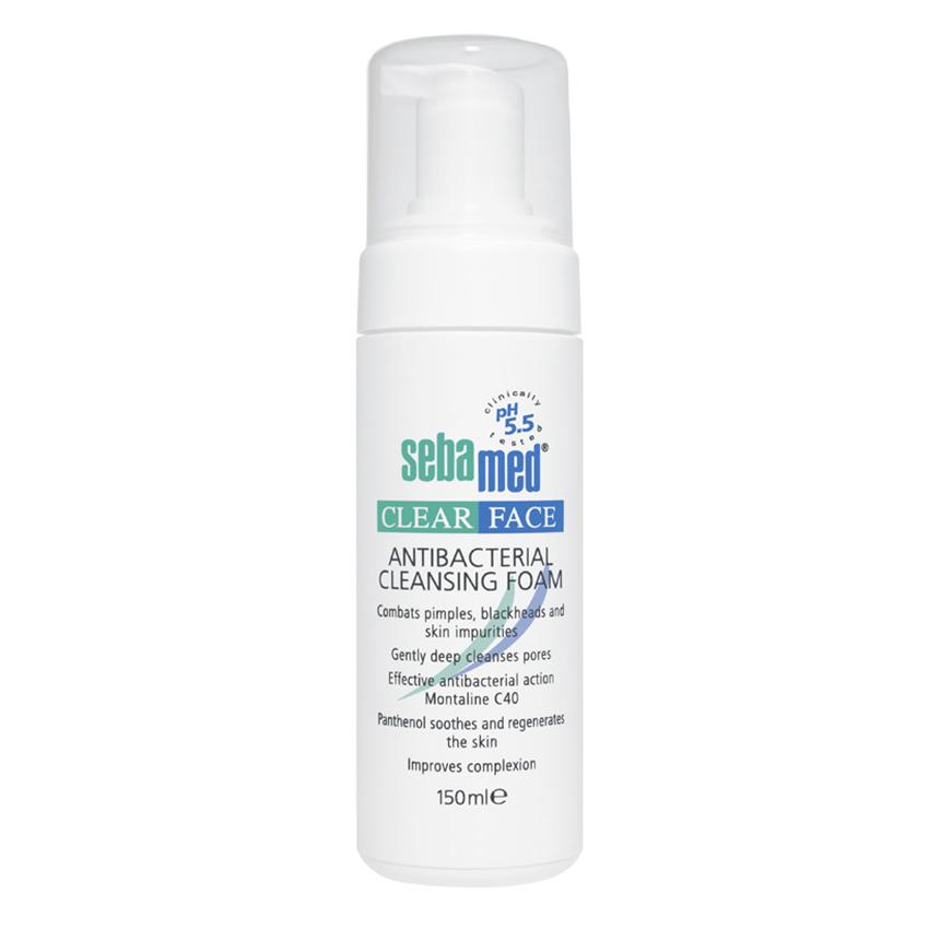 Sữa Rửa Mặt Tạo Bọt Kháng Khuẩn, Trị Mụn pH5.5 Sebamed Clear Face Antibacterial Cleansing Foam SCF01A (150ml) - 7841876 , 4863501687288 , 62_2785089 , 379000 , Sua-Rua-Mat-Tao-Bot-Khang-Khuan-Tri-Mun-pH5.5-Sebamed-Clear-Face-Antibacterial-Cleansing-Foam-SCF01A-150ml-62_2785089 , tiki.vn , Sữa Rửa Mặt Tạo Bọt Kháng Khuẩn, Trị Mụn pH5.5 Sebamed Clear Face Antiba