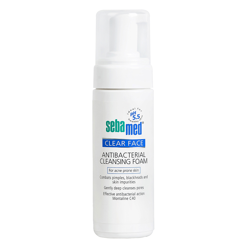 Sữa Rửa Mặt Tạo Bọt Kháng Khuẩn, Trị Mụn pH5.5 Sebamed Clear Face Antibacterial Cleansing Foam SCF01B (50ml)