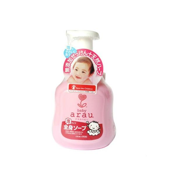 Bọt Tắm Gội Thảo Mộc Arau Baby Bình (450ml)