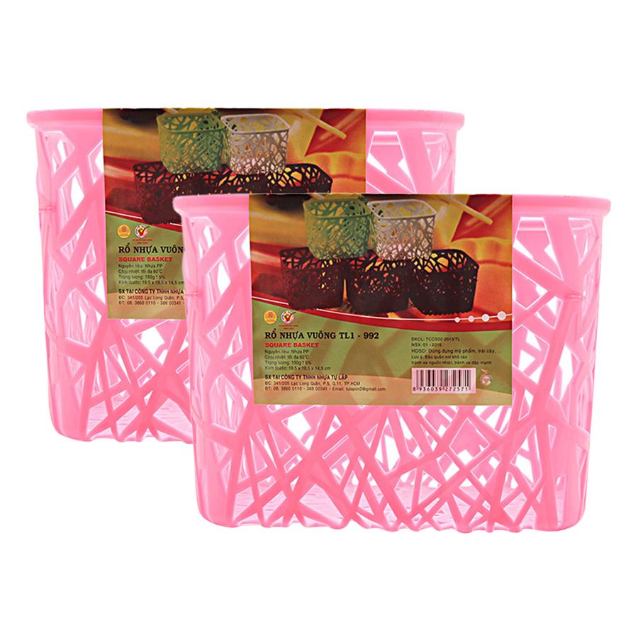 Bộ 2 Rổ Nhựa Vuông Nhựa Tự Lập TL1-992 - Nhiều Màu - 9416281 , 4231049054068 , 62_726954 , 44000 , Bo-2-Ro-Nhua-Vuong-Nhua-Tu-Lap-TL1-992-Nhieu-Mau-62_726954 , tiki.vn , Bộ 2 Rổ Nhựa Vuông Nhựa Tự Lập TL1-992 - Nhiều Màu