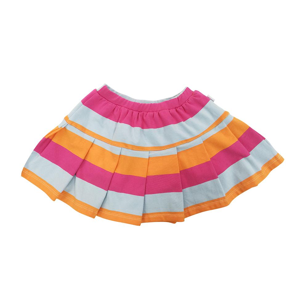 Váy Xòe Sọc Hồng Cam Nanio V0001-1