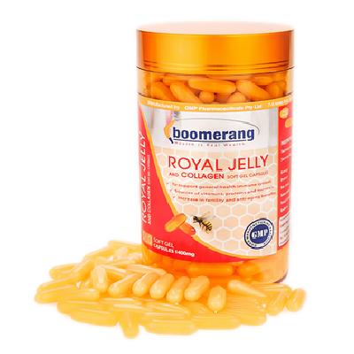 Thực Phẩm Chức Năng Viên Uống Sữa Ong Chúa Và Collagen 1400mg Boomerang Royal Jelly BM 02 - 120 Viên