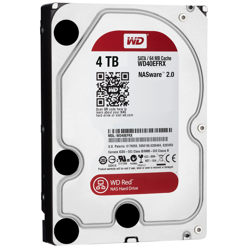 Ổ Cứng HDD NAS WD Red 4TB/64MB/5400/3.5 - WD40EFRX - 5224209 , 9132076353023 , 62_9807127 , 3410000 , O-Cung-HDD-NAS-WD-Red-4TB-64MB-5400-3.5-WD40EFRX-62_9807127 , tiki.vn , Ổ Cứng HDD NAS WD Red 4TB/64MB/5400/3.5 - WD40EFRX