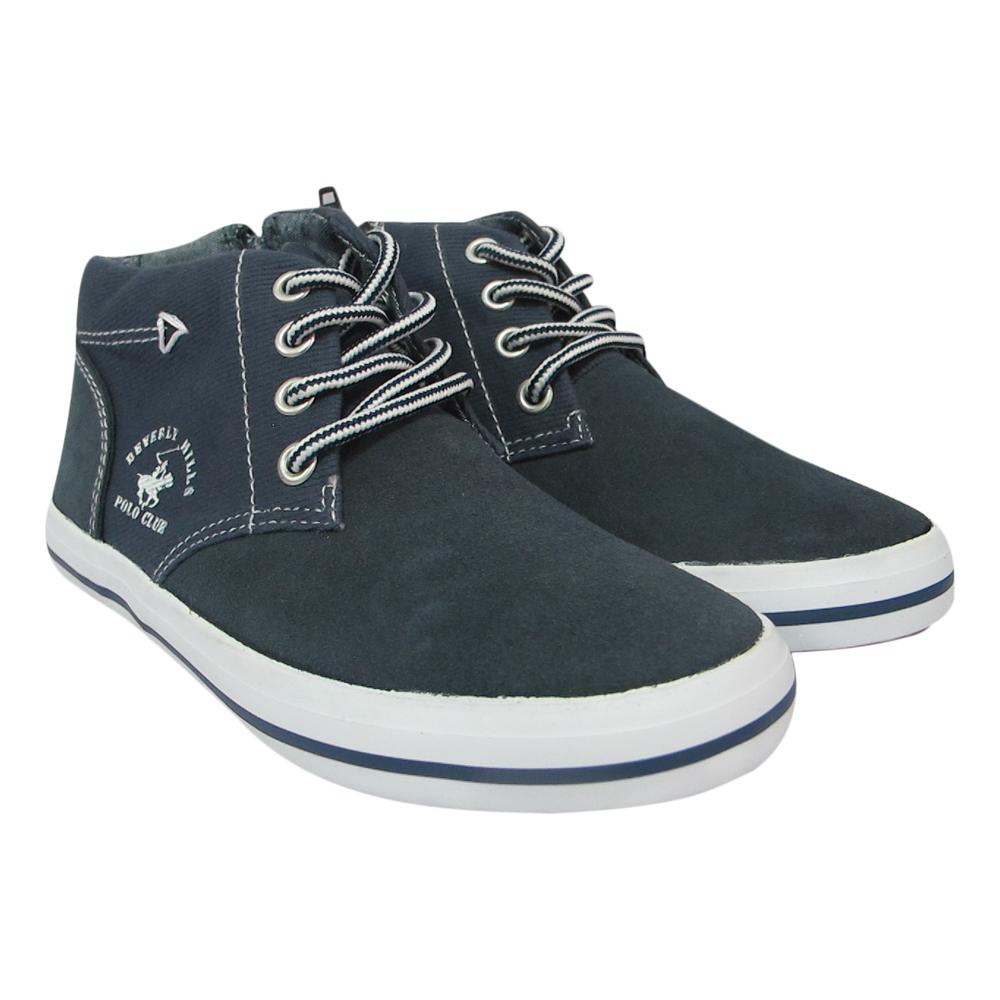 Giày Sneaker Cổ Cao Bé Trai DA B1502 - Xanh Chàm