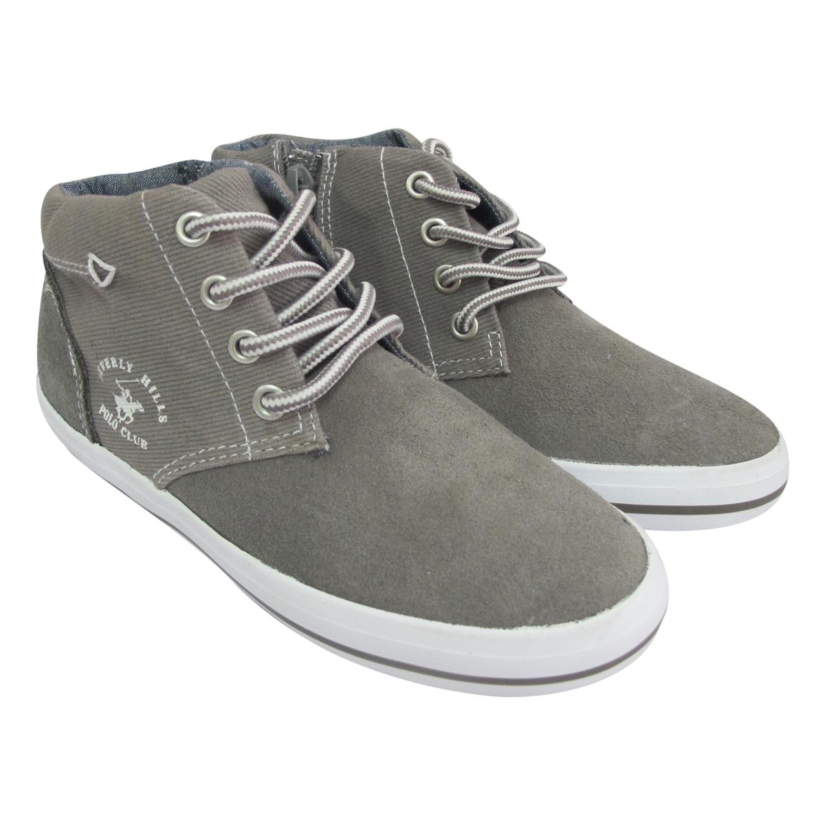 Giày Sneaker Cổ Cao Bé Trai DA B1502 – Ghi