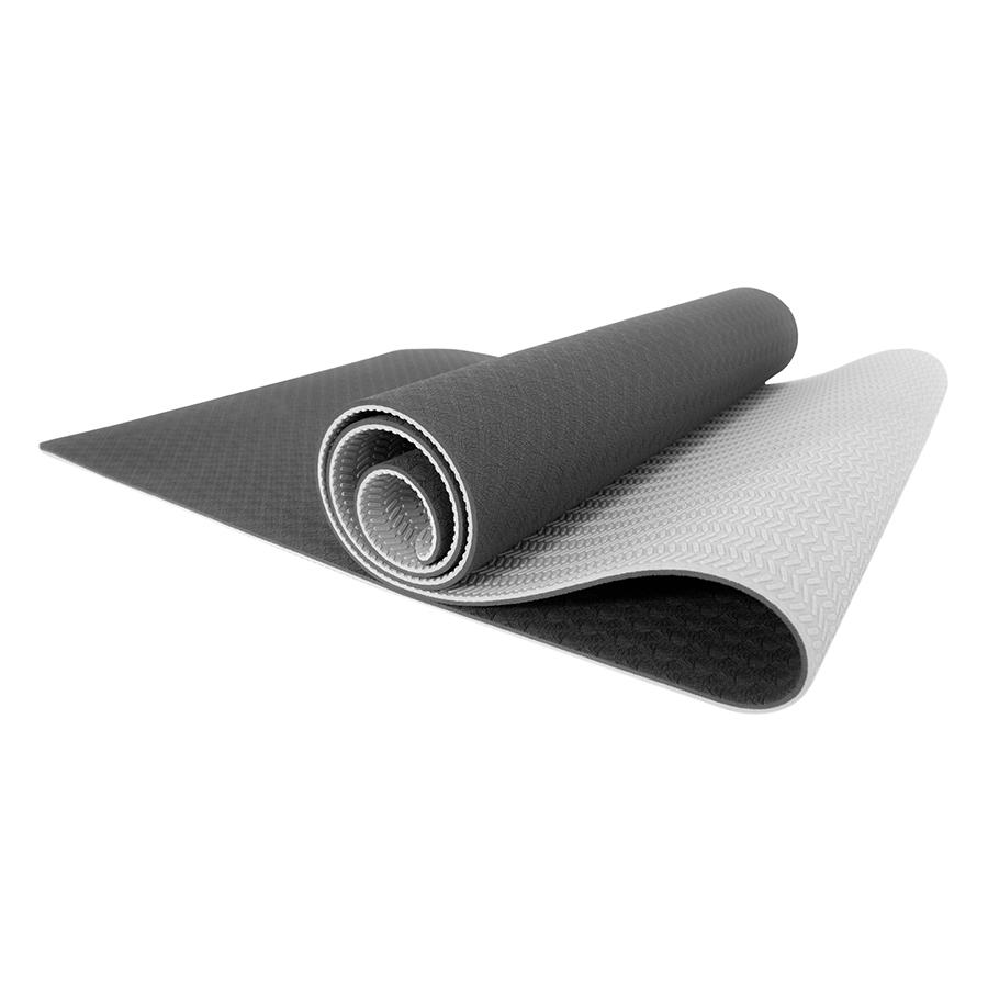 Thảm Tập Gym Và Yoga TPE 2 Lớp Zera 6MM2L (6mm) - Xám
