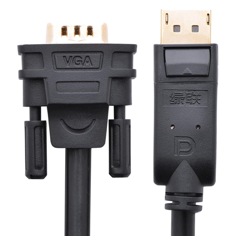 Cáp DP Male To VGA Male Ugreen DP105 10236 (3m) - Đen - Hàng Chính Hãng