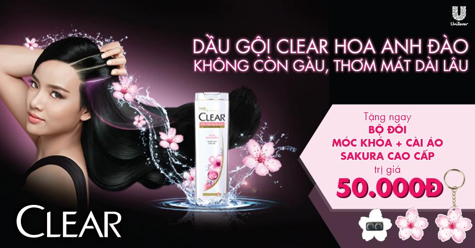 Dầu Gội Clear Hương Hoa Anh Đào Thơm Mát (370g) - 21123419