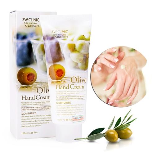 Kem Dưỡng Da Tay Olive 3W Clinic Hand Cream (100ml)