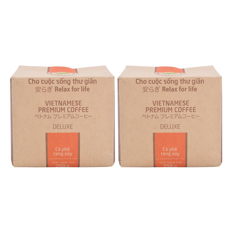 Bộ 2 Túi Cà Phê Deluxe Hello 5 Coffee 250gTúi