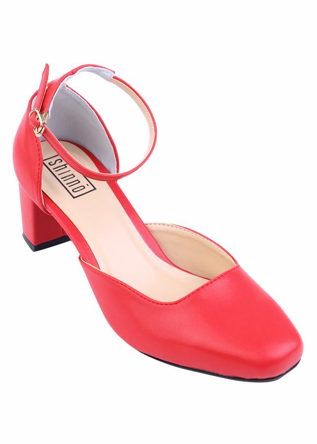 Giày Gót Vuông Hở Eo Shinno 15001 - Đỏ - 4861237800476,62_710139,349000,tiki.vn,Giay-Got-Vuong-Ho-Eo-Shinno-15001-Do-62_710139,Giày Gót Vuông Hở Eo Shinno 15001 - Đỏ