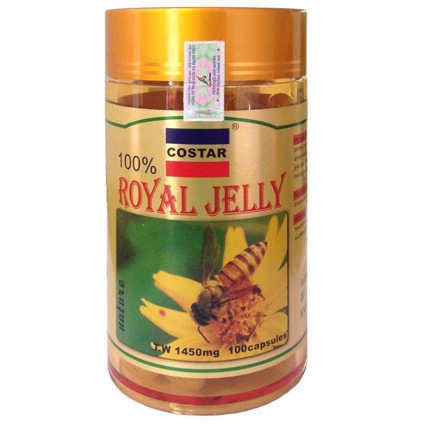 Thực Phẩm Chức Năng Viên Uống Sữa Ong Chúa Costar Royal Jelly 1450Mg - Hộp 100 Viên
