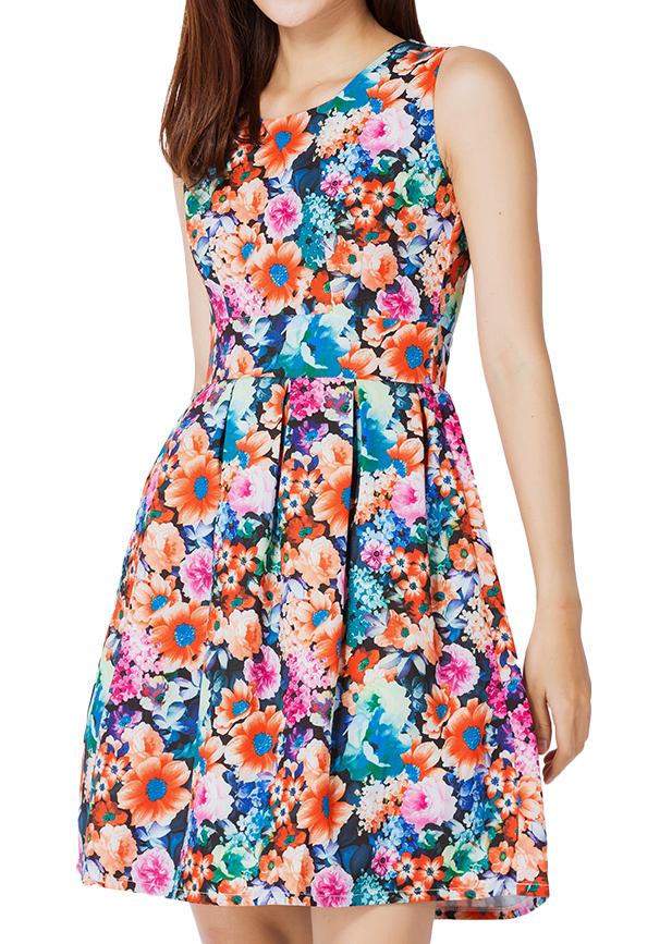 Đầm Xếp Ly NT Fashion Họa Tiết Hoa 101 - 02