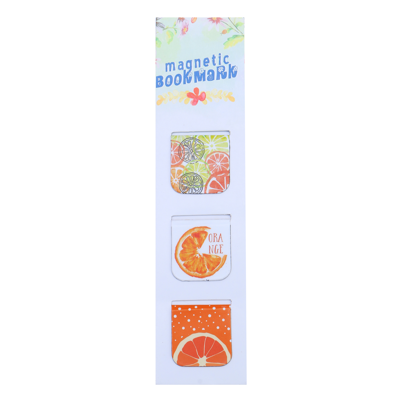 Bộ 3 Bookmark Nam Châm Kính Vạn Hoa - Summer Fruits: Orange