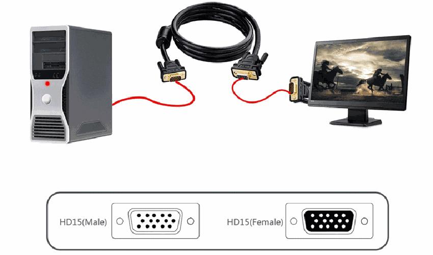 Cáp VGA Ugreen (11632) - 5m - Hàng nhập khẩu