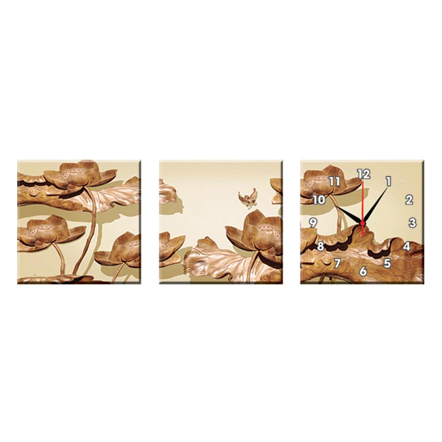 Bộ Ba Tranh Đồng Hồ Treo Tường Thế Giới Tranh Đẹp Q16-144-DH