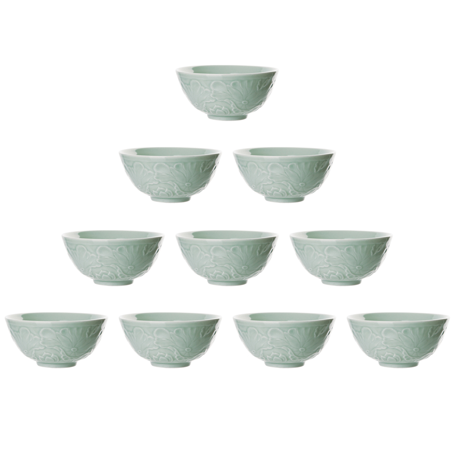 Combo 10 Chén Ngọc Hoa Sen Xanh  (11.5 x 5.3 cm) - 5701511510754,62_163084,398000,tiki.vn,Combo-10-Chen-Ngoc-Hoa-Sen-Xanh-11.5-x-5.3-cm-62_163084,Combo 10 Chén Ngọc Hoa Sen Xanh  (11.5 x 5.3 cm)