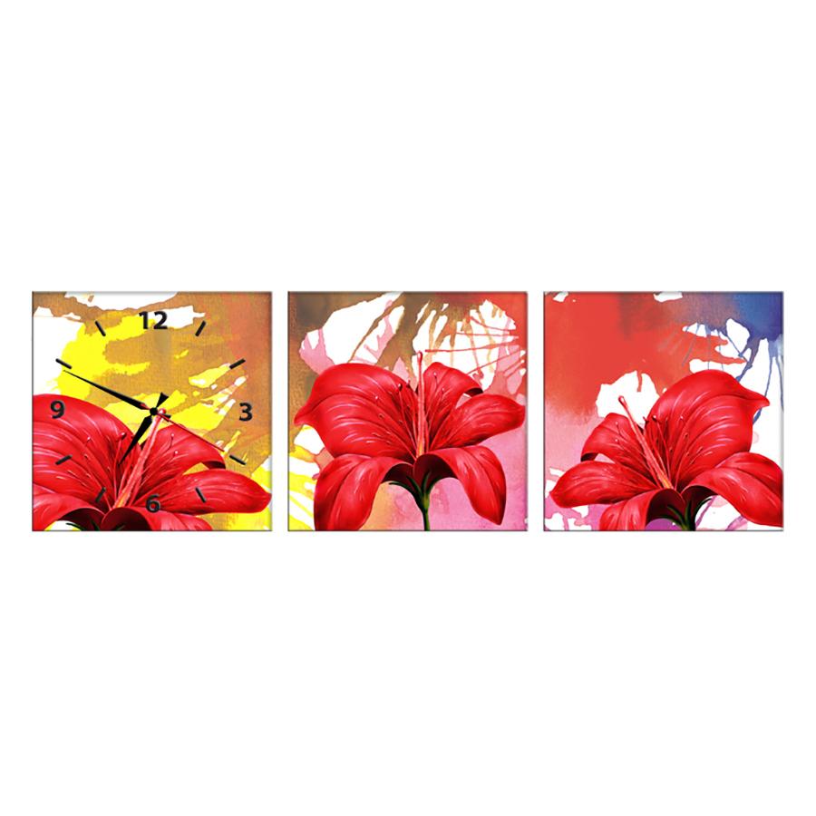 Tranh Đồng Hồ Treo Tường 3 Tấm Thế Giới Tranh Đẹp HH00241-DH