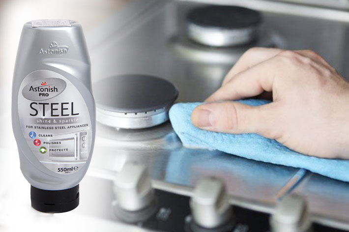 Chất Tẩy Rửa Bề Mặt Kim Loại Chuyên Nghiệp Astonish Pro Steel (550ml)
