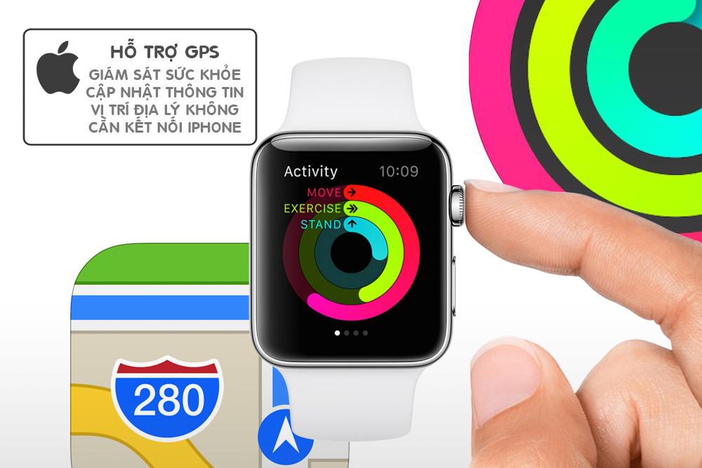 Đồng Hồ Thông Minh Apple Watch Series 2 - 38mm Stainless Steel Case With White Sport Band - MNP42VN/A