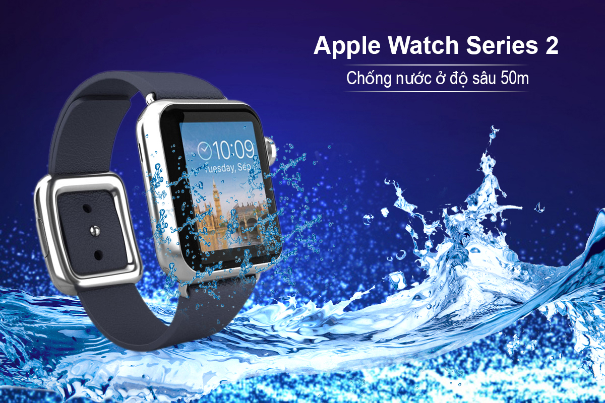 Đồng Hồ Thông Minh Apple Watch Series 2 - 38mm Stainless Steel Case with Midnight Blue Modern Buckle - MNP82VN/A