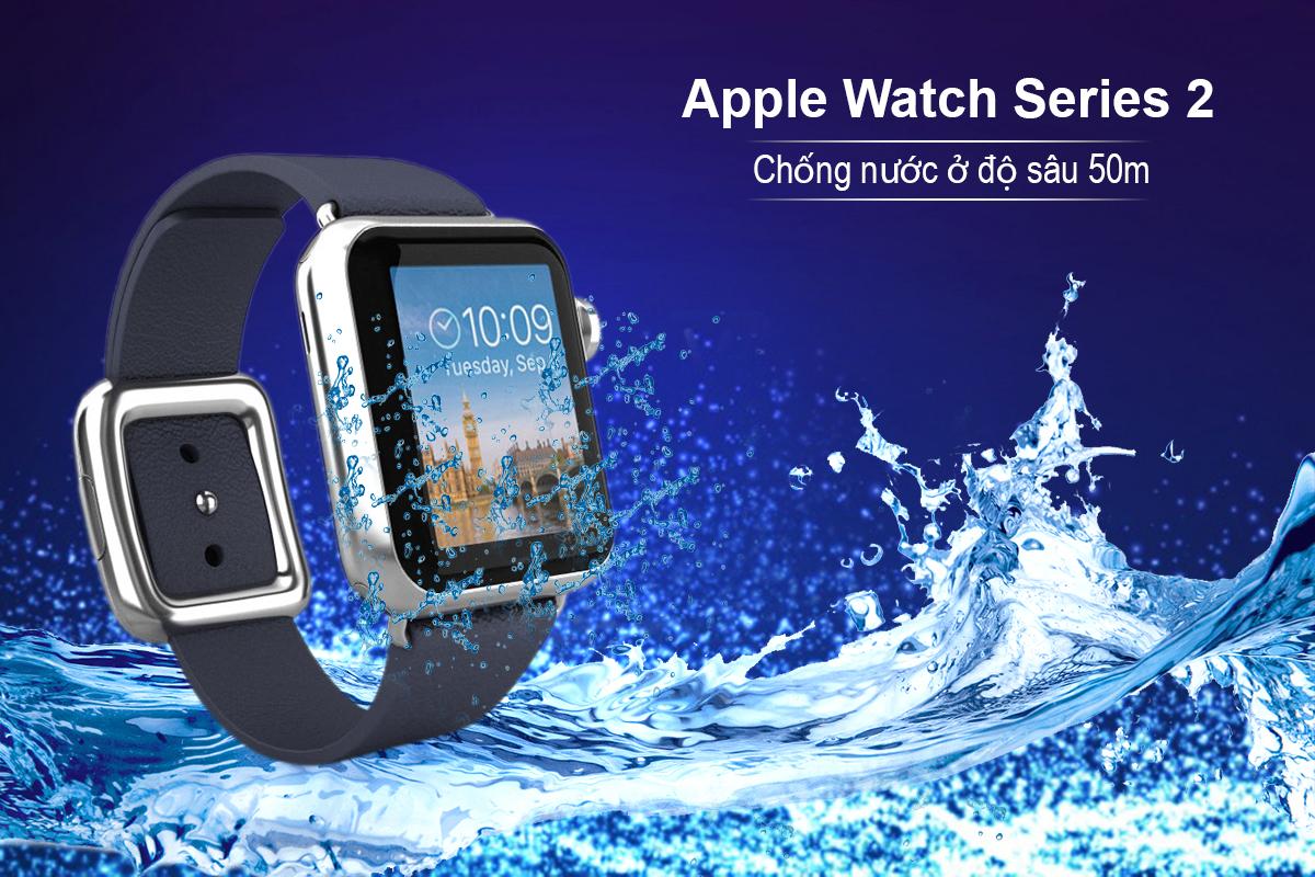 Đồng Hồ Thông Minh Apple Watch Series 2 - 38mm Stainless Steel Case with Midnight Blue Modern Buckle - MNP82VN/A