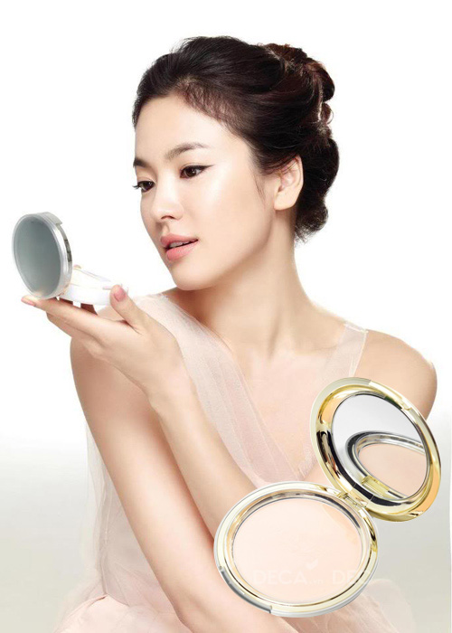 Phấn Trang Điểm Ngọc Trai Eveline Skinlovers Blooming Powder Pact (22g) 2
