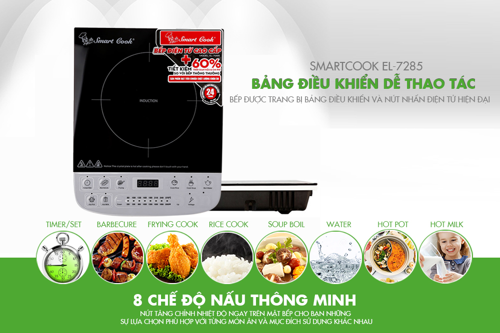 Bếp Điện Từ Cao Cấp Smartcook ICS-7285 - 2357285