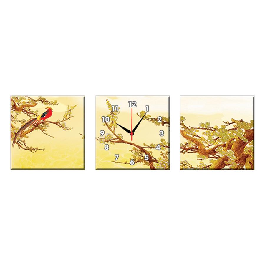 Bộ Ba Tranh Đồng Hồ Treo Tường Thế Giới Tranh Đẹp Q16-168-DH