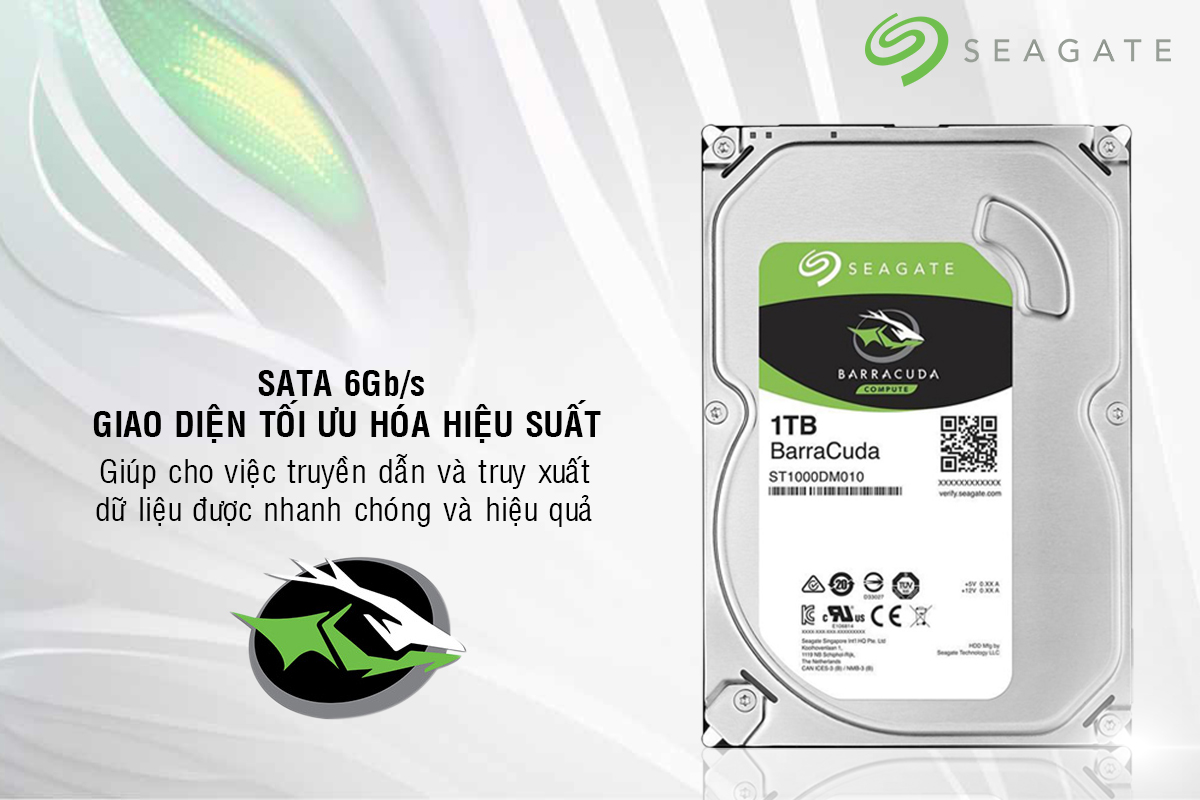 Ổ Cứng Trong Seagate 1TB/64MB/3.5 - ST1000DM010