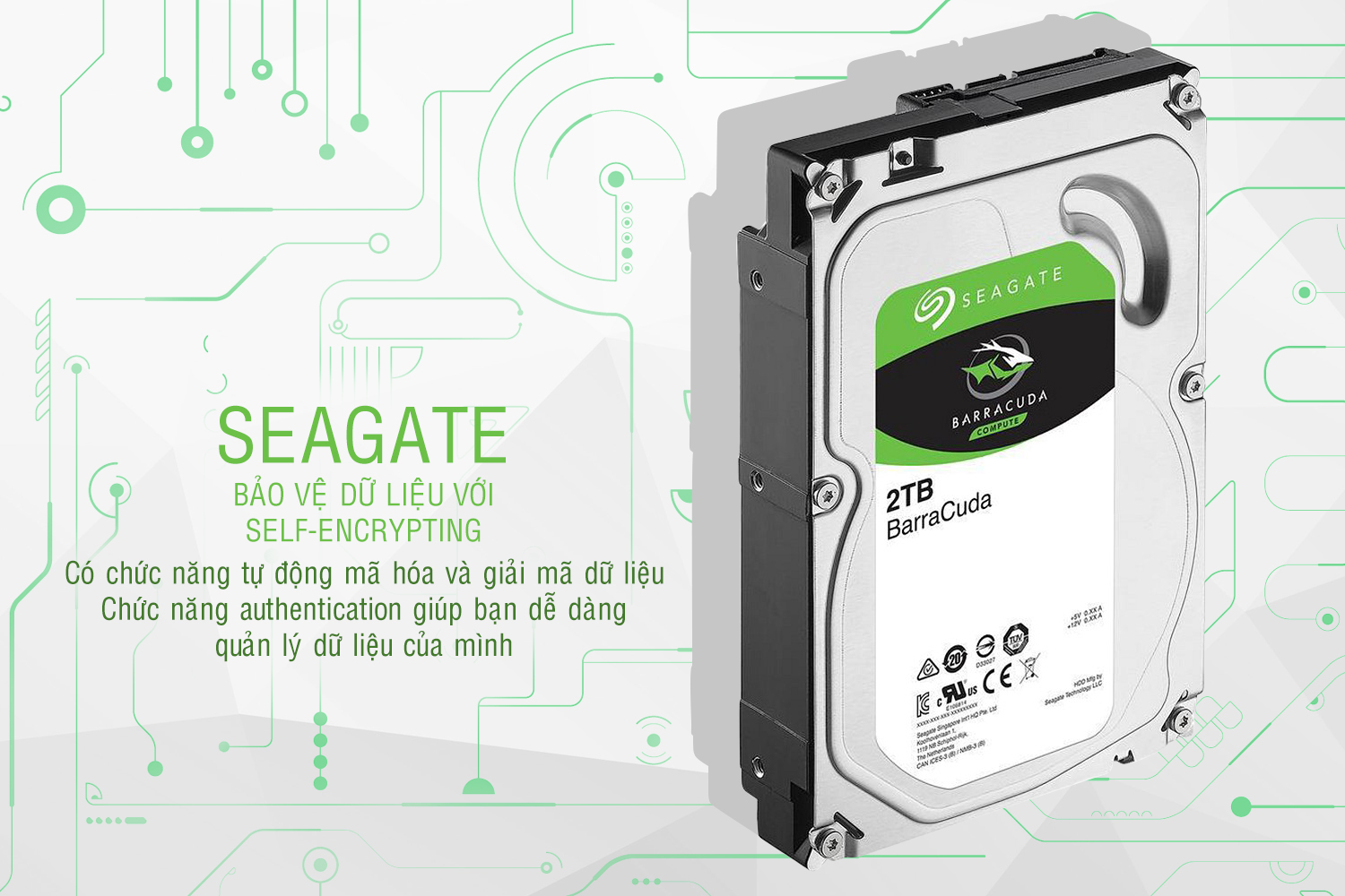 Ổ Cứng Trong Seagate 2TB/64MB/3.5 - ST2000DM006