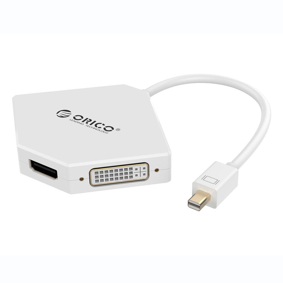 Bộ Chuyển Display Port Sang 3 Cổng HDMI/DVI/VGA Orico DMP-HDV3 - Hàng Chính Hãng