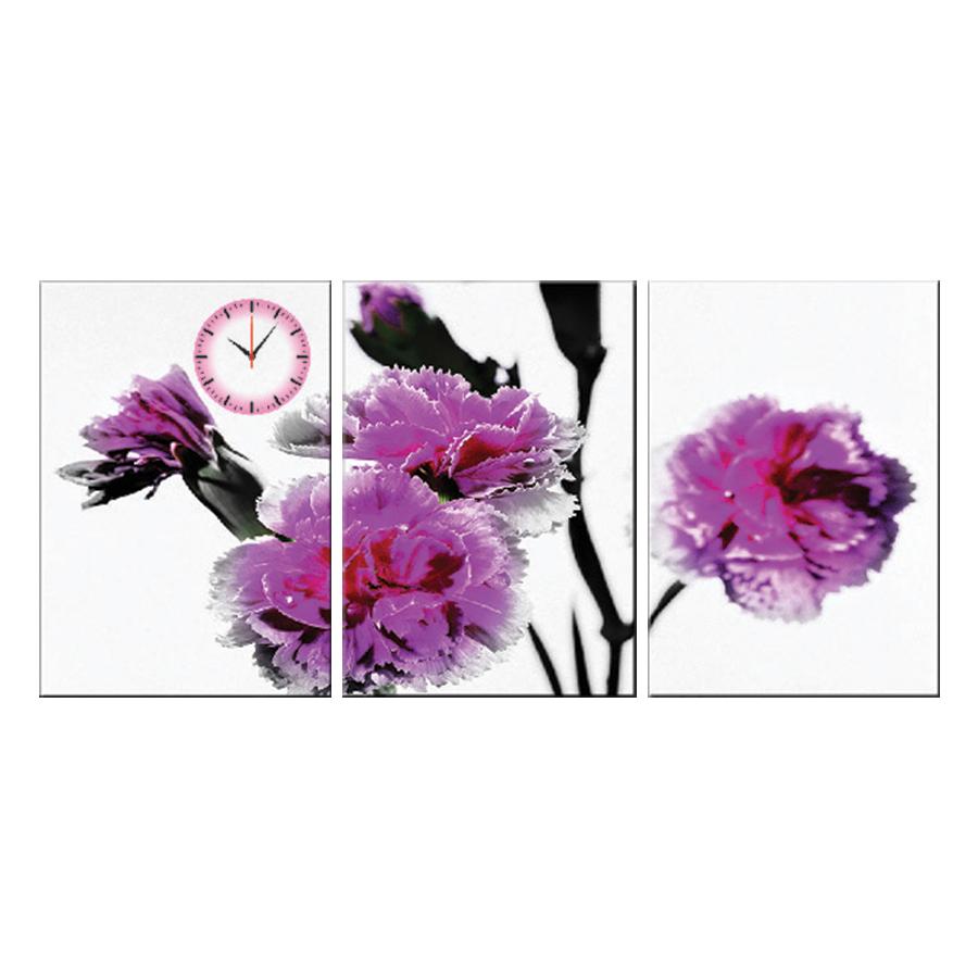 Tranh đồng hồ treo tường LỘC HOA THƠM NGÁT - Q6D6_35DH(12) Thế Giới Tranh Đẹp