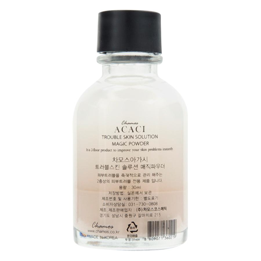 Bột Hỗ Trợ Trị Mụn, Sẹo Và Làm Mờ Vết Thâm Chamos Acaci Trouble Skin Solution Magic Powder MP-SOL30 (30ml)