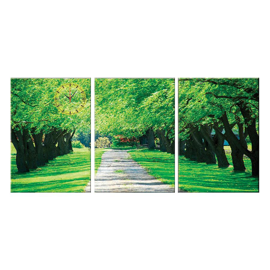 Tranh đồng hồ treo tường HOA NẮNG ĐƯỜNG EM ĐI - Q6D6_35DH(13) Thế Giới Tranh Đẹp