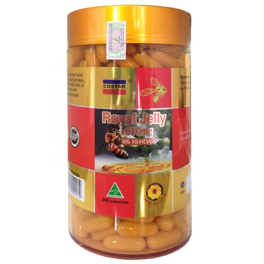 Thực Phẩm Chức Năng Viên Uống Sữa Ong Chúa Costar Royal Jelly 1610mg 6% 10-HDA - Hộp 365 Viên - 2240626813457,62_7310771,1102500,tiki.vn,Thuc-Pham-Chuc-Nang-Vien-Uong-Sua-Ong-Chua-Costar-Royal-Jelly-1610mg-6Phan-Tram-10-HDA-Hop-365-Vien-62_7310771,Thực Phẩm Chức Năng Viên Uống Sữa Ong Chúa Costar Royal Jelly 1610mg 6% 10-HDA - Hộp 365 Viên
