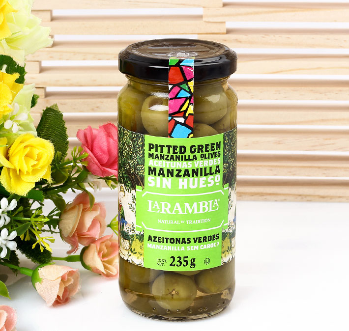 Combo 2 Hộp Olive Xanh Tách Hạt La Rambla Green Pitted Olives (235g/hộp)