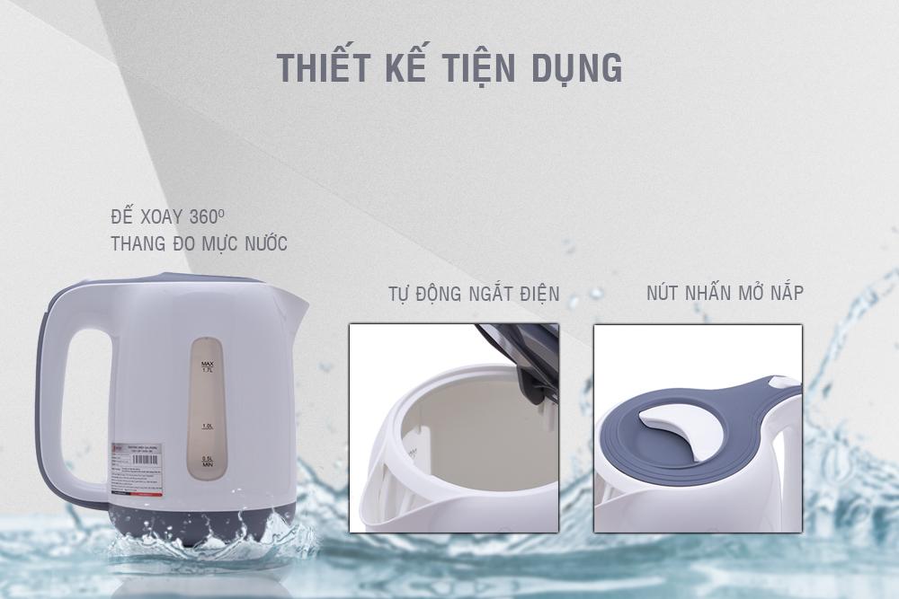 Bình Đun Siêu Tốc Smartcook KES-0695 - 1.7L