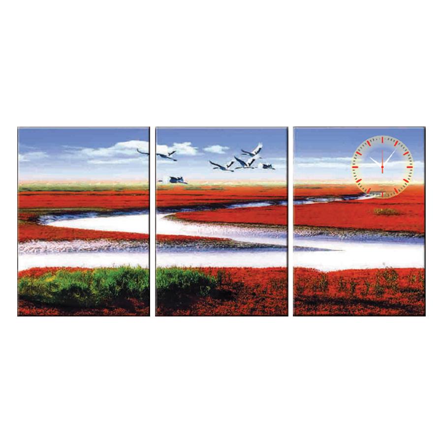 Tranh đồng hồ treo tường PHONG CẢNH ĐẸP THANH BÌNH - Q6D6_35DH(15) Thế Giới Tranh Đẹp