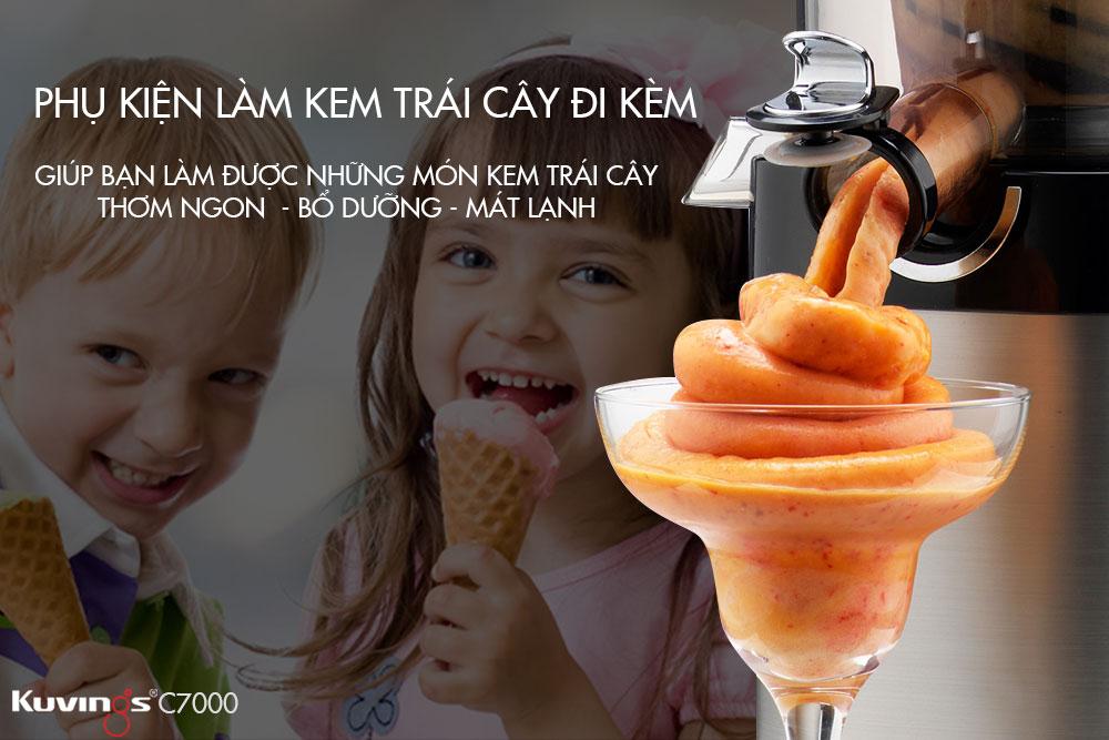 Máy Ép Trái Cây Kuvings C7000 (Bạc) - Hàng Chính Hãng