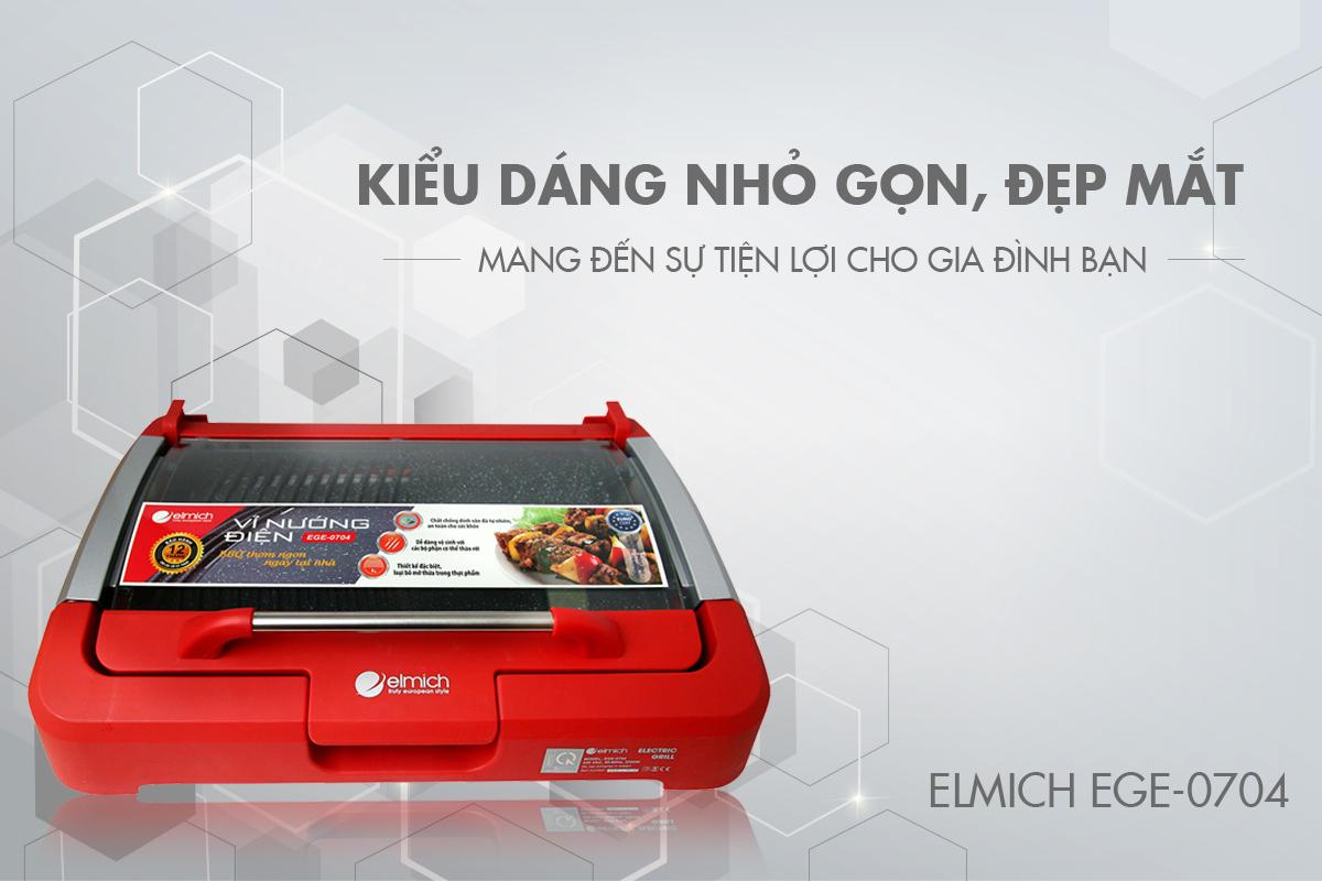 Vỉ Nướng Elmich EGE-0704 - Hàng chính hãng