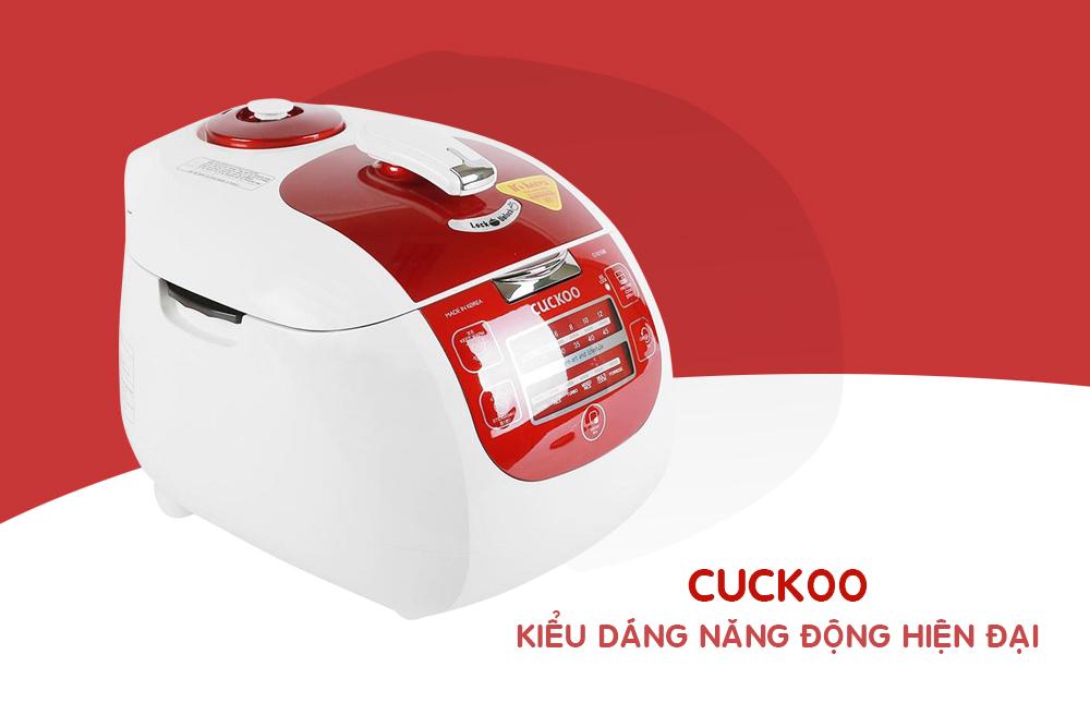 Nồi Cơm Áp Suất Điện Tử Cuckoo CRP-G1015M - 1.8L (Đỏ)