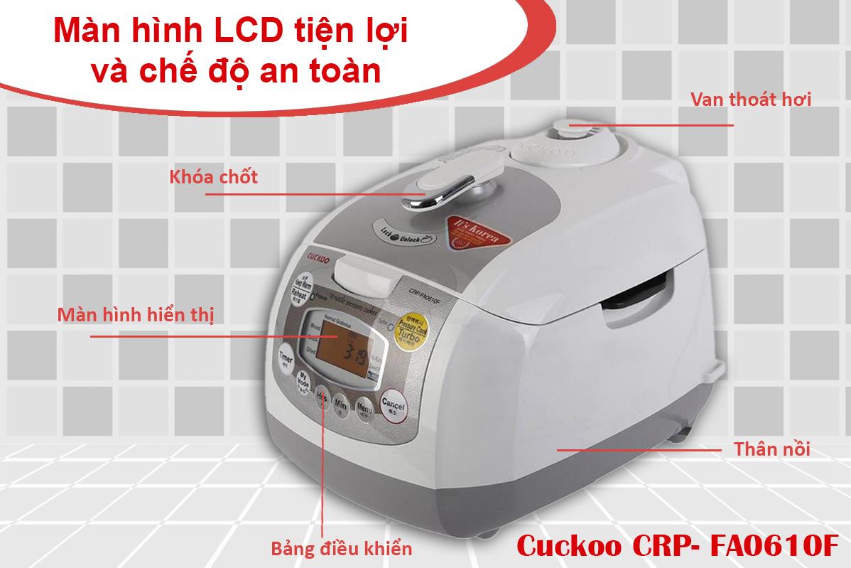 Nồi Cơm Áp Suất Điện Tử Cuckoo CRP- FA0610F - 1.08L